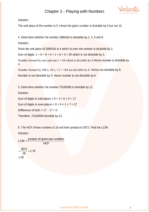 Important Questions for CBSE Class 6 Maths Chapter 3