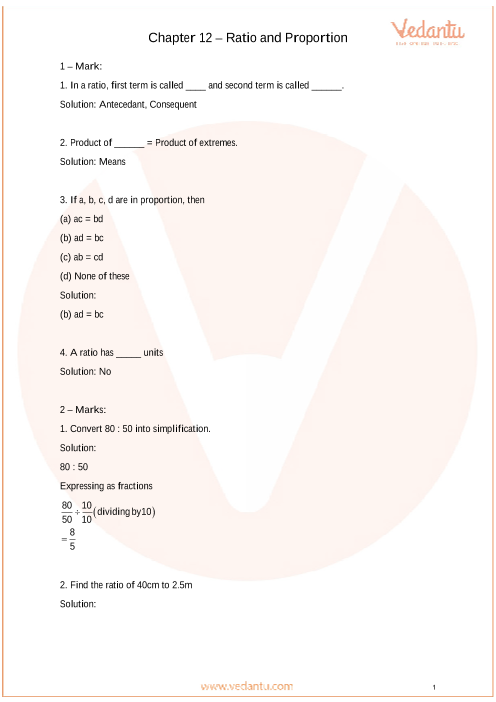 Important Questions for CBSE Class 6 Maths Chapter 12 ...