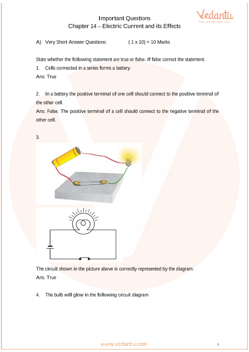 Important Questions for CBSE Class 7 Science Chapter 14