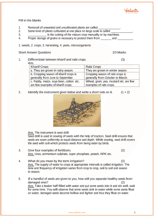 Important Questions for CBSE Class 8 Science Chapter 1