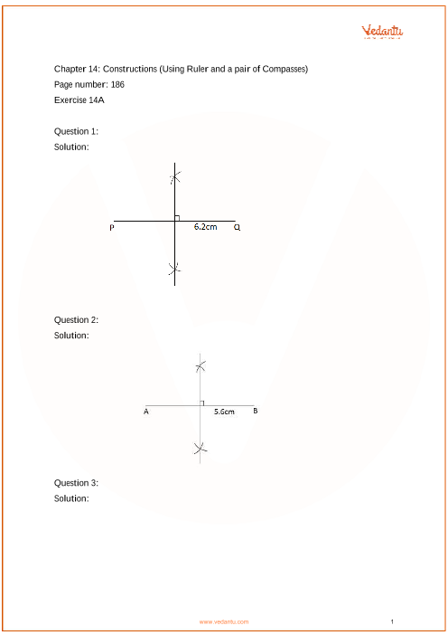 RS Aggarwal Class 6 solutions Chapter 14_Constructions part-1