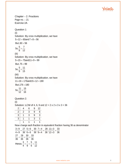 RS Aggarwal Class 7 Solutions Chapter 2_Fractions part-1