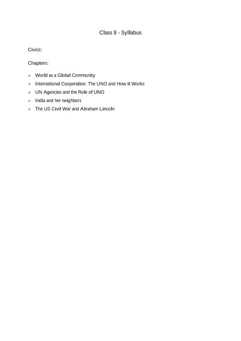 ICSE Class 8_Civics_2018-2019_Syllabus part-1