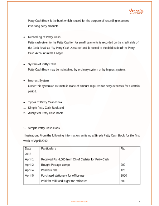 CBSE Class 11 Accountancy Chapter-4 Recording Of Transactions - II