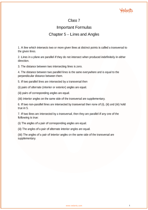 Chapter 5 - Lines and Angles part-1