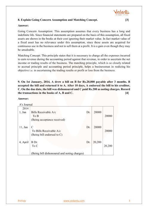 CBSE Sample Paper for Class 11 Accountancy with Solutions