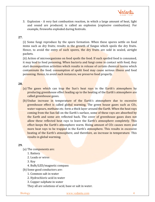 CBSE Sample Paper for Class 8 Science with Solutions - Mock