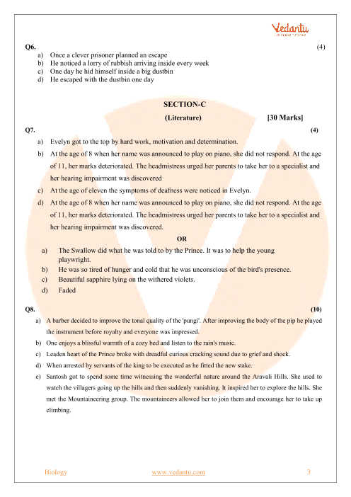 CBSE Sample Paper for Class 9 English Language & Literature