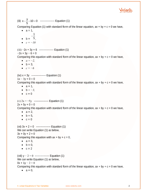 NCERT Solutions for Class 9 Maths Chapter 4 Linear Equations