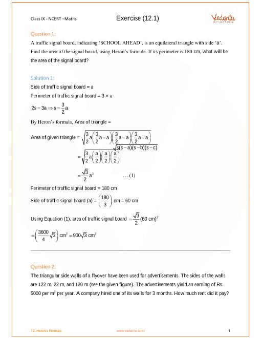 Chapter 12-Heron's Formula part-1