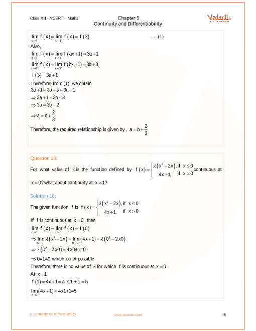 NCERT Solutions for Class 12 Maths Chapter 5 Exercise 5 1