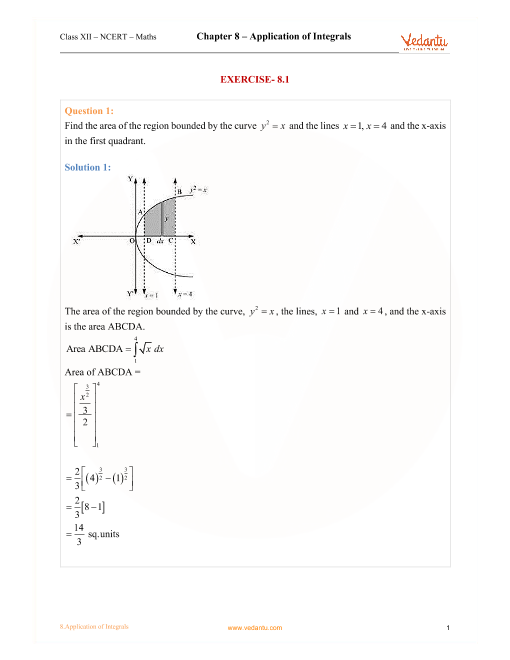Chapter 8 - Application of Integrals part-1