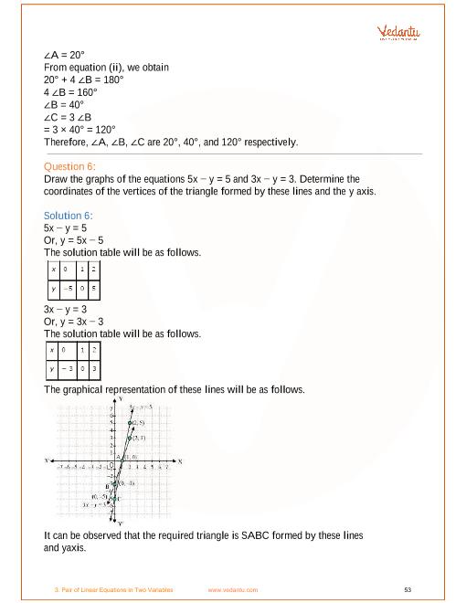 class 10 maths ncert solution chapter 3 exercise 3.6