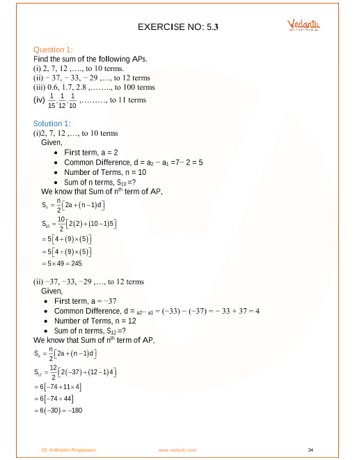 NCERT Solutions for Class 10 Maths Chapter 5 Arithmetic