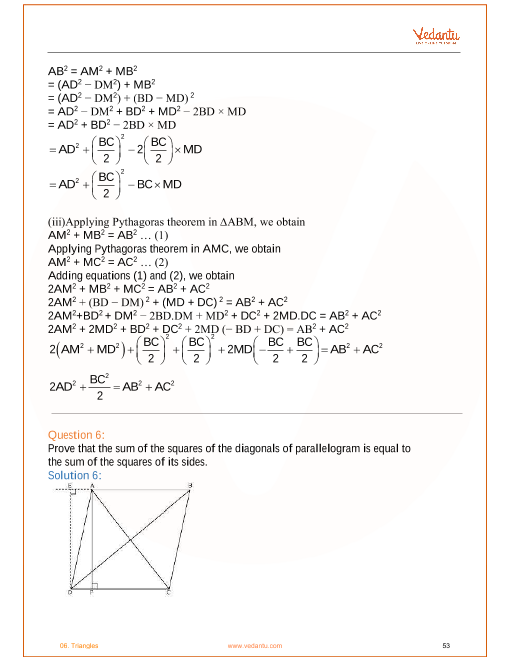 NCERT Solutions for Class 10 Maths Chapter 6 Triangles (Ex 6 3