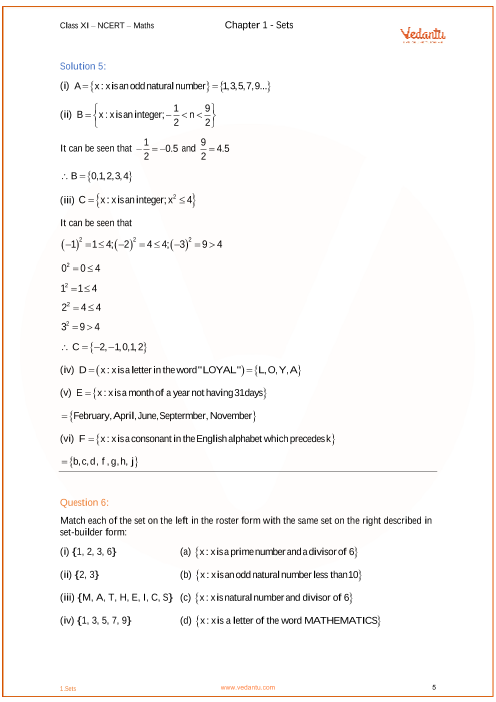 NCERT Solutions for Class 11 Maths Chapter 1 Sets (Ex 1 1