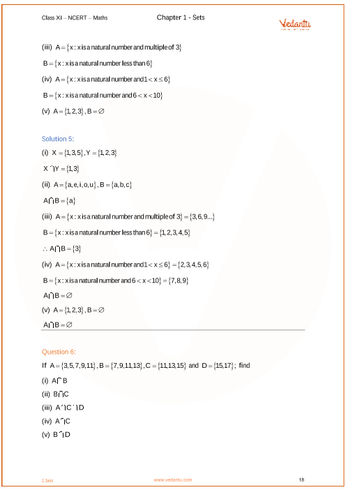 NCERT Solutions for Class 11 Maths Chapter 1 Sets (Ex 1 2) Exercise 1 2