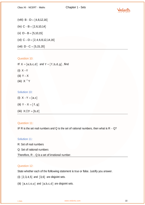 NCERT Solutions for Class 11 Maths Chapter 1 Sets (Ex 1 3