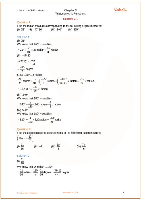 Chapter 3 - Trigonometric functions part-1