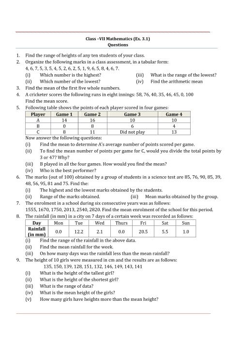 NCERT Solutions for Class 7 Maths Chapter 3 Data Handling (EX 3 2