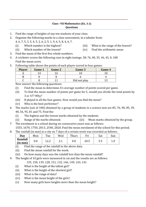 NCERT Solutions for Class 7 Maths Chapter 3 part-1