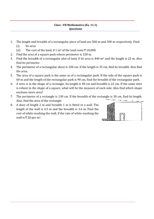 NCERT Solutions for Class 7 Maths Chapter 11 part-1