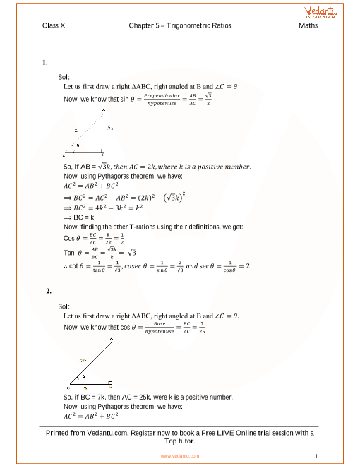 RS Aggarwal Solutions for Class 10 Chapter 5 part-1