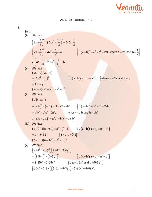 04 - Algebraic Identities part-1