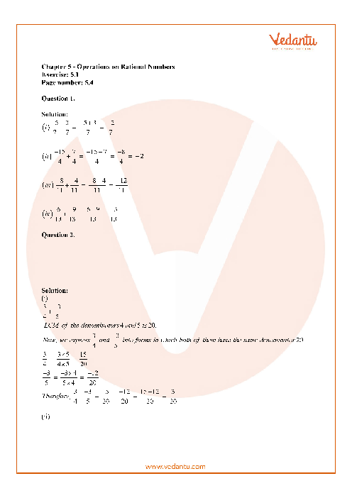 RD Sharma Class 7 Solutions Chapter 5 part-1