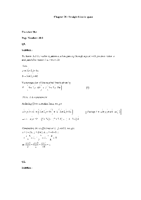 RD Sharma Class 12 Solutions Chapter-28 part-1