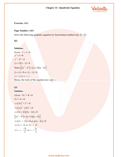 RD Sharma Class 11 Solutions Chapter 14 part-1