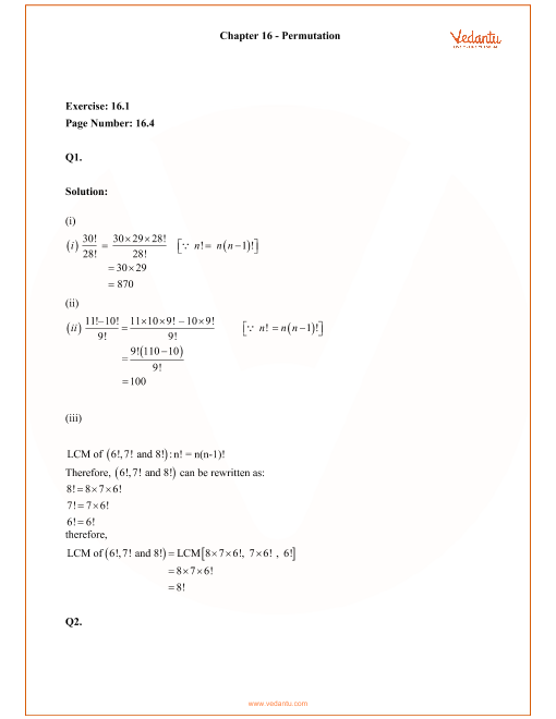 RD Sharma Class 11 Solutions Chapter 16 part-1