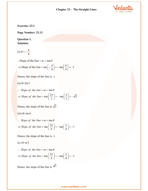 RD Sharma Class 11 Solutions Chapter 23 part-1