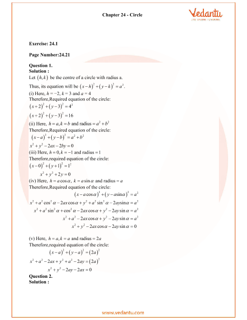 RD Sharma Class 11 Solutions Chapter 24 part-1