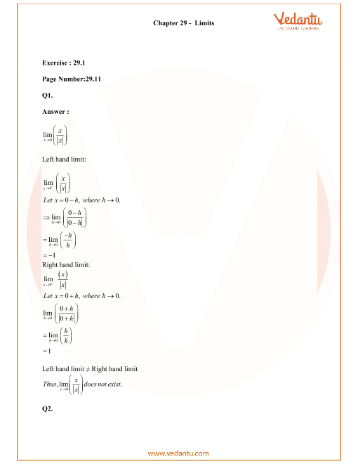 RD Sharma Class 11 Solutions Chapter 29 part-1