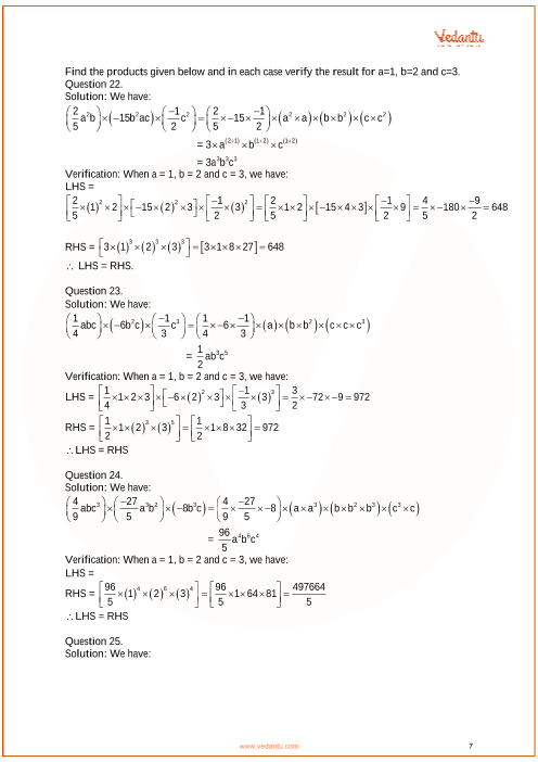 RS Aggarwal Solutions Class 7 Chapter-6 Algebraic