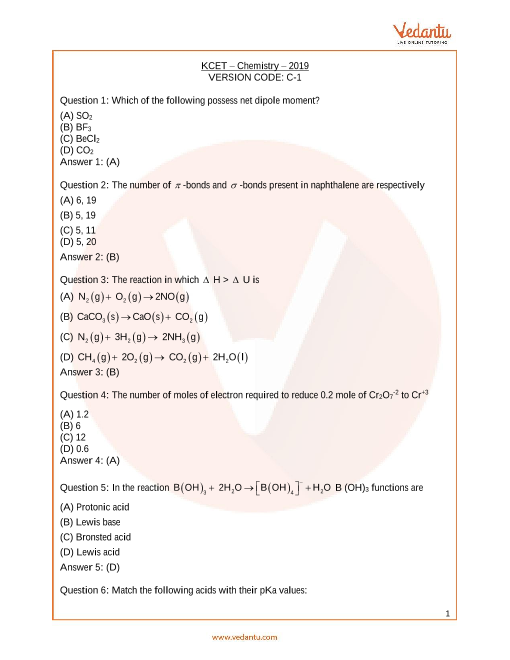 KCET_Chemistry_Year_2019 part-1