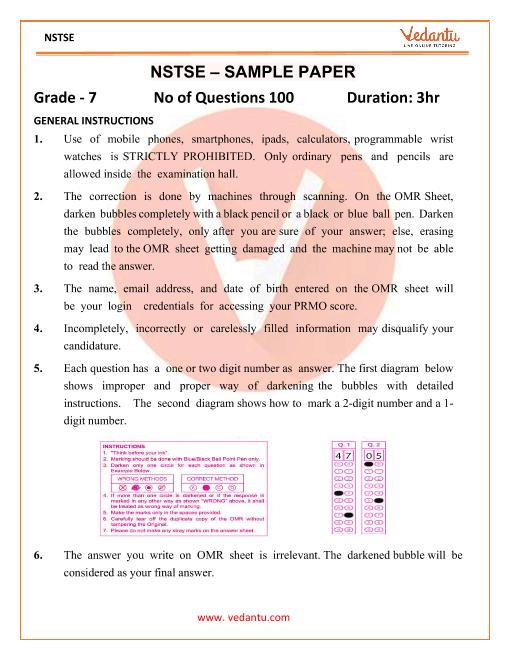 Sample Paper Grade - 7 part-1