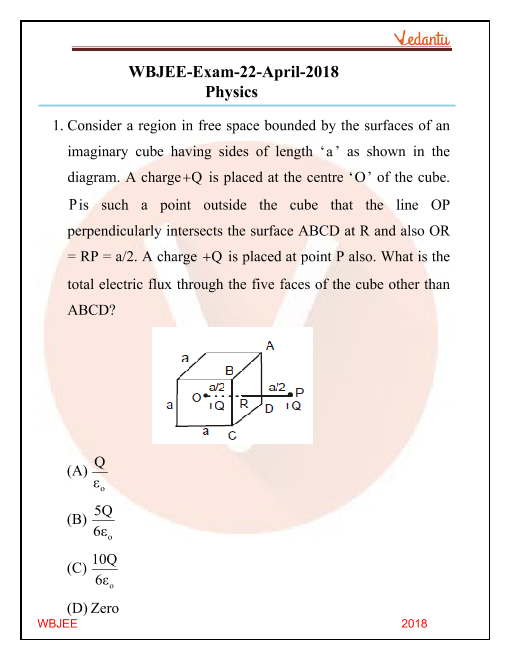 WBJEE 2018 Physics Question Paper part-1