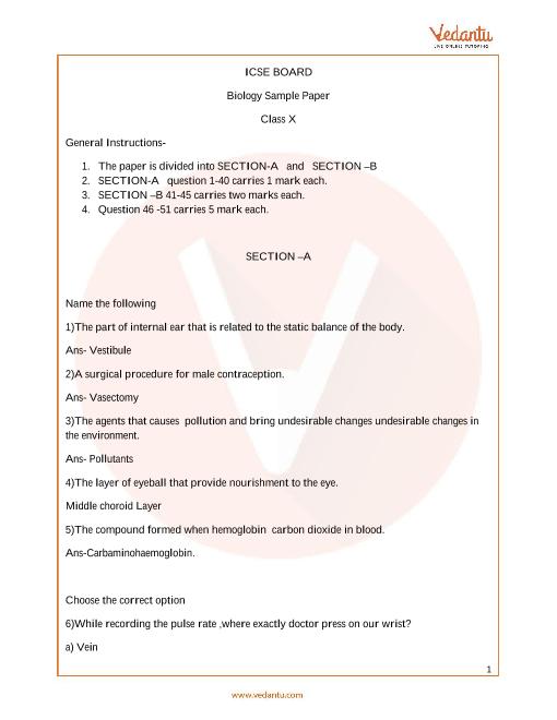 ICSE_Class 10_Biology_Sample paper_1 part-1