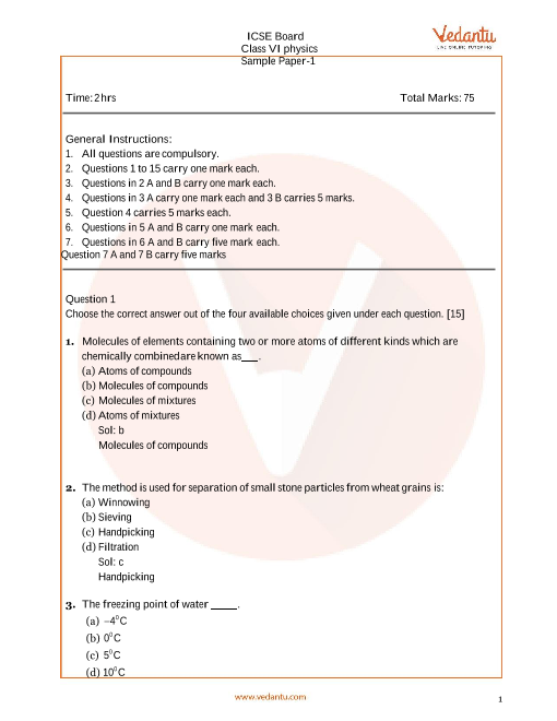 ISCE_Class 06_Chemistry_Sample paper_2 part-1