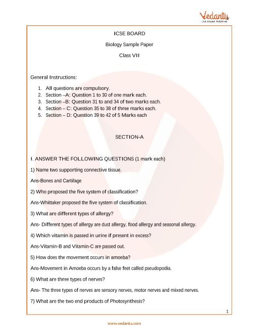 ISCE_Class 07_Biology_Sample paper_1 part-1