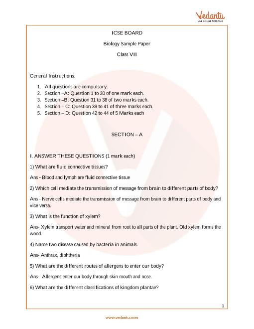 ISCE_Class 07_Biology_Sample paper_2 part-1