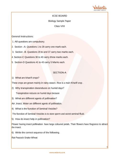 ICSE_Class 08_Biology_Sample paper_2 part-1