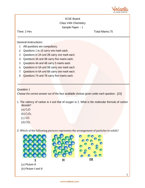 ISCE_Class 08_Chemistry_Sample paper_1 part-1