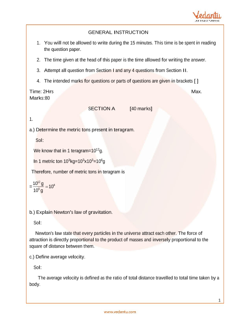 ICSE_Class 09_Physics_Sample paper_1 part-1