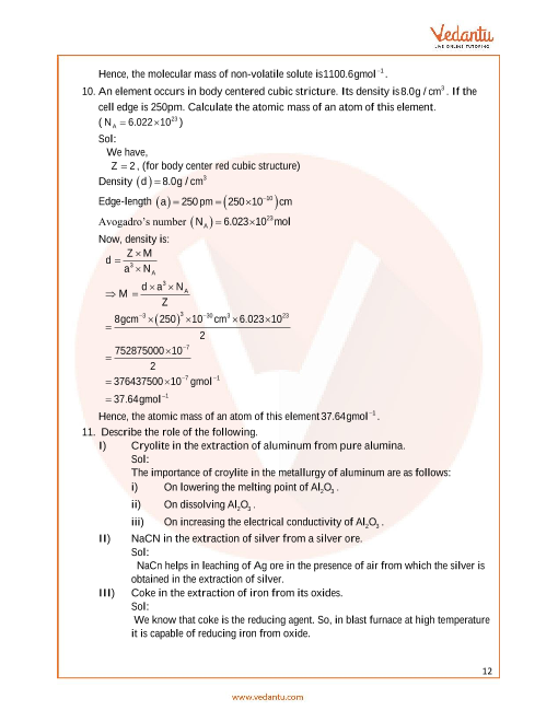 Previous Year Chemistry Question Paper for ISC Class 12