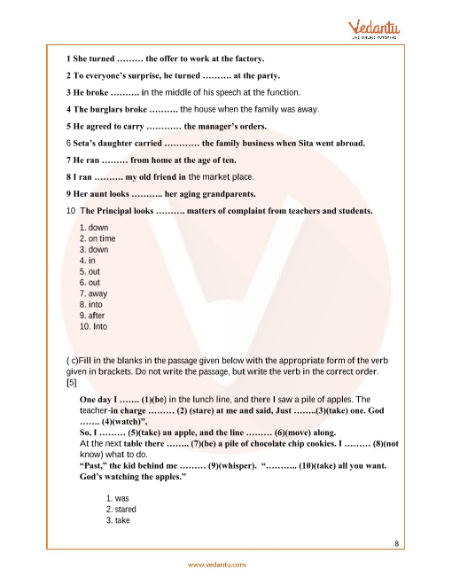 Previous Year English Language Question Paper for ISC Class 12 Board