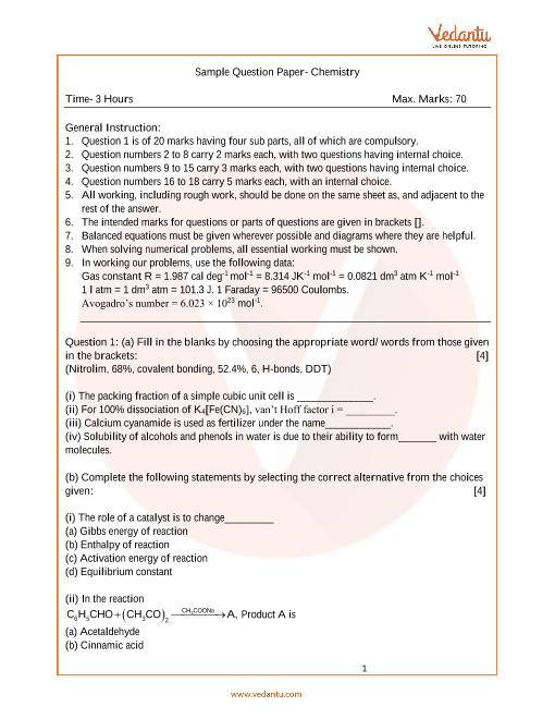 ISC_Class 12_Chemistry_Sample paper_1 part-1