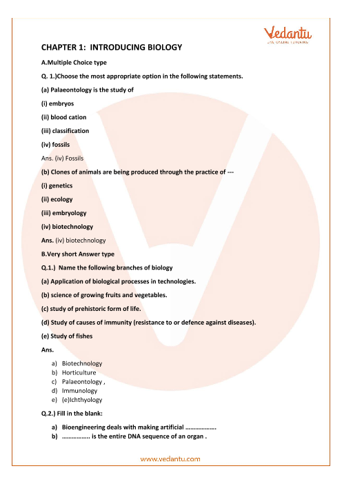Concise Biology Class 9 ICSE Solutions Chapter 1 Introducing Biology part-1